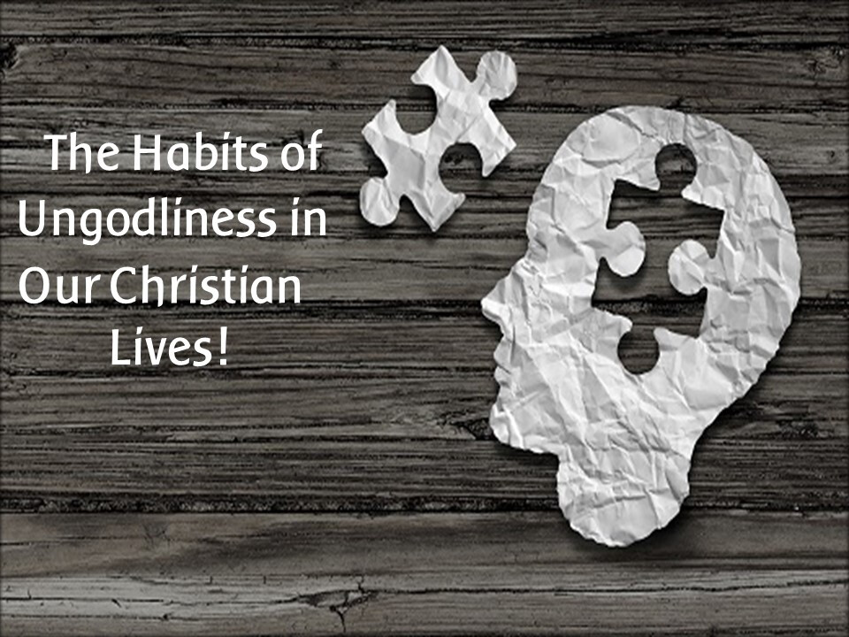 The Habits Of Ungodliness In Our Christian Lives