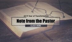 NOTE FROM THE PASTOR
