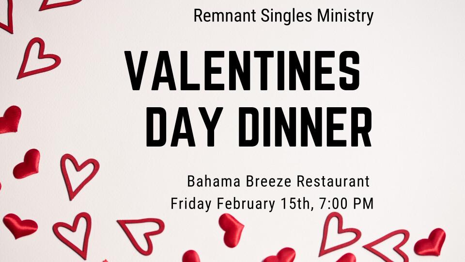 Singles Valentines Day Dinner