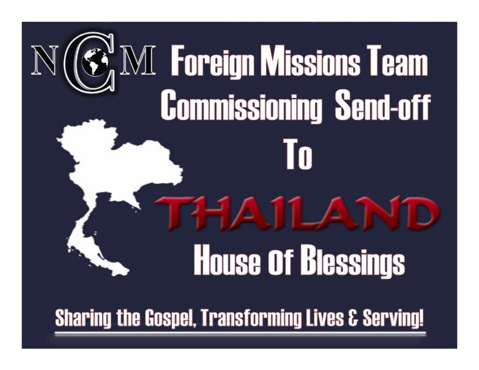 NCOM Foreign Missions Team-Commissioning Service