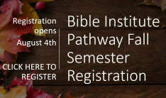 Fall Semester Registration