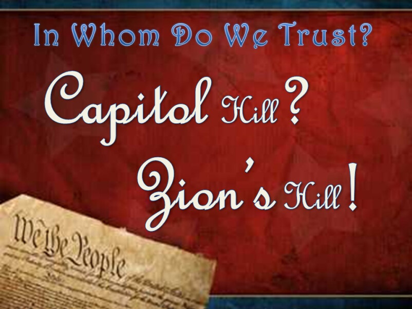 Capital Hill or Zions Hill - Thine is The Kingdom & The Power - Week 2